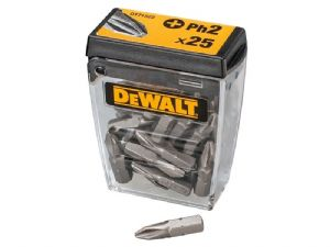 Dewalt DT71522 PH2 25mm Standard Bits Tic Tac Pack of 25